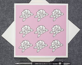 Camellia Flowers archival cotton All Occasion's Card