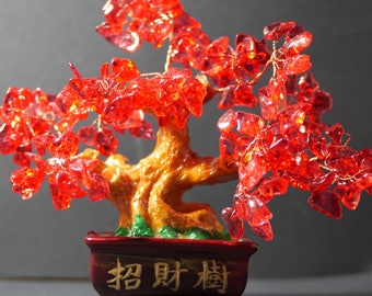 Money Tree | Feng Shui Tree | Lucky Tree | Fortune Tree | Crystal Tree | Bonsai Money Tree | Red Bonsai Tree