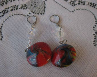 Red Lentil Bead Earrings