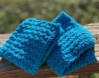 Turquoise Cotton Dishcloths