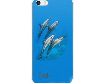 Dolphin Blue iPhone Case