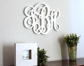 monogramme géant en bois peint  personnalisé - monogramme personnalisé- initiales - mylittledecor