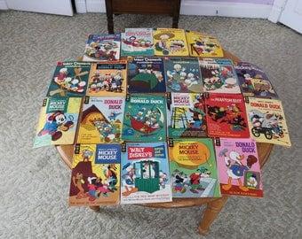 Vintage Walt Disney comic books 1957 to 1971 set of 20