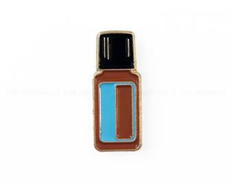 Blue Essential Oil Bottle Soft Enamel Lapel Pin