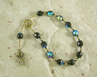 Hades Pocket Prayer Beads: Greek God of Death and the Afterlife, Abundance and Wealth, and King of the Underworld
