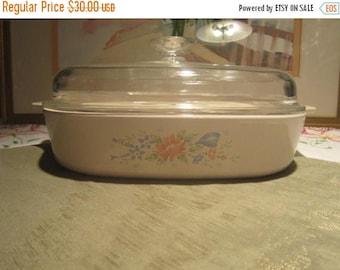 Corning Ware Symphony Casserole Vintage 1990's 2.5 Liter Pyroceram Cookware Bakeware Casserole Stovetop Serving -Kit0524