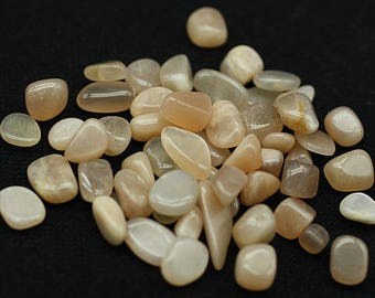 ONE Bag of gem peach Moonstone polished nuggets - Mineral Specimens/Gemstones for Sale
