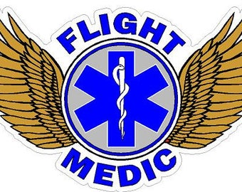 Flight Medic Paramedic EMS Decal   #0618