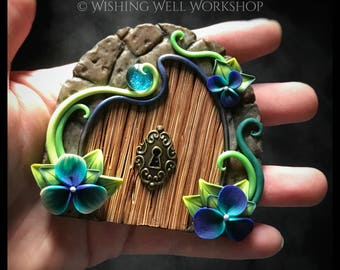 Polymer Clay Blue & Green Fairy Door
