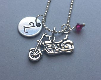 Motorcycle Necklace-Hand Stamped Jewelry