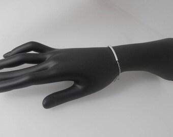 Silver metal tube bracelet
