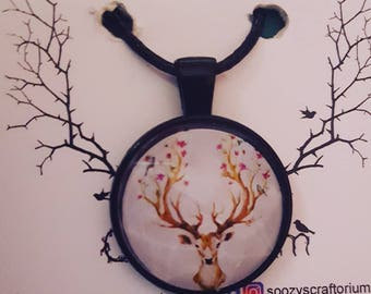 Stag Head Necklace Pendant