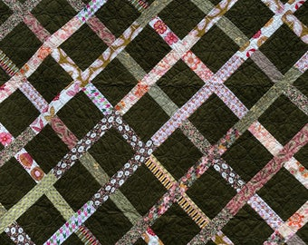 Patchwork Quilt with Sashing