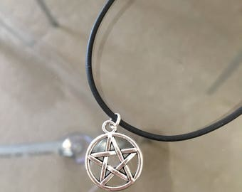 Pentagram charm necklace