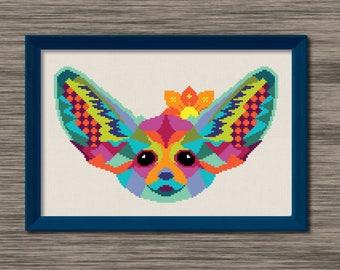 Fennec Fox  - PDF Cross Stitch Pattern