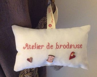 Door cushion decorative hanging embroidery Studio