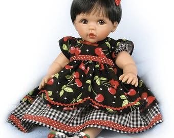 Ashton Drake Sweetie Pie Baby Girl Doll in Cherry Dress by Cheryl Hill