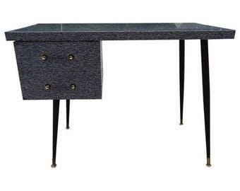 Mid-Century Desk with Cerused style Laminate