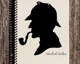 SALE - Sherlock Holmes Journal - Sherlock Holmes Notebook - Diary - Journal - Notebook