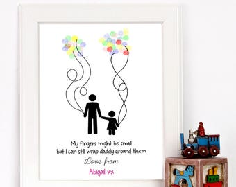 Father's Day 'Fingerprint' balloon print