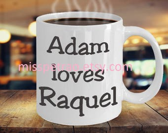 Couples Names or Zodiac Mug, two zodiac signs, custom coffee mug with two sided