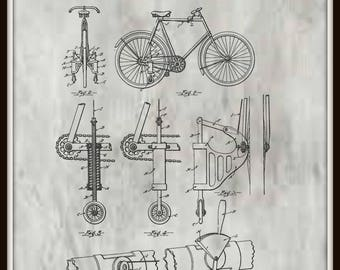 Bicycle Support (training wheels) Patent #1,233,300 dated July 17, 1917.