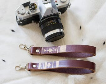 Wrist Strap Leather, Boho Camera Strap, stylish camera strap, leather camera strap, camera wrist strap