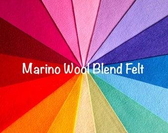 """Wool Felt//3 sheets//8X12"""" (20X30cm)//Choose your colour//Felt sample pack//Felt sheets//Rainbow felt//Crafting felt//Felt toy//Felt flowers"""