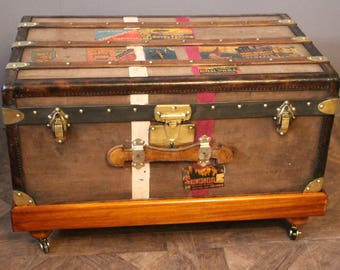 1920's Brown Moynat Steamer Trunk