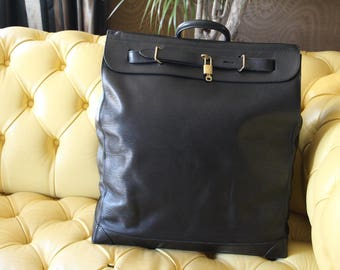 Louis Vuitton Steamer Bag Epi Leather, Deep Black Color