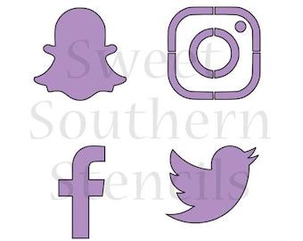 Social Media Stencil