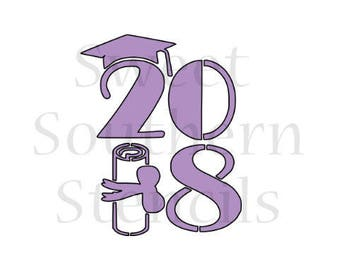 Class of 2018 #4 Cookie Stencil