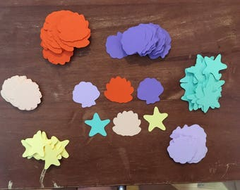 Seashell and Starfish Confetti (100 total pieces)