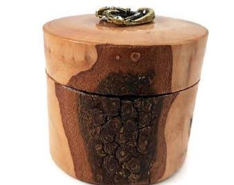 Hand turned lidded box