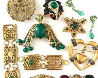 Vintage Jewelry Repurpose Destash Lot