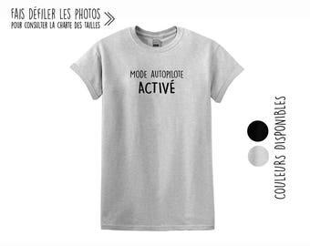Mode Autopilote ACTIVÉ.Unisex Crewneck Tshirt.Petite Gazelle Atelier