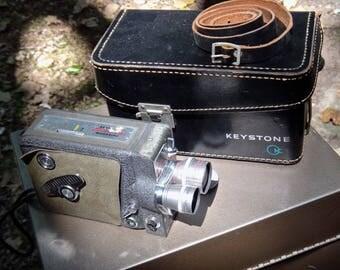 Movie Camera, Keystone, K5 Electric Eye, Magazine Camera, Camera Bag, AV, Prop, Film Maker, Industrial, Steampunk, Man Cave, Video Camera
