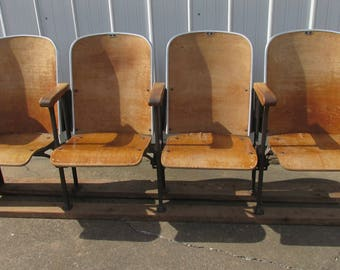 Row Of 4 Theater Chairs, Theatre Seats Or Movie Seats. Entryway, Man Cave