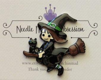Halloween Witch Needle Minder