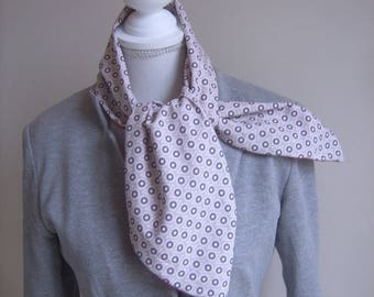 Hand-made scarf gently