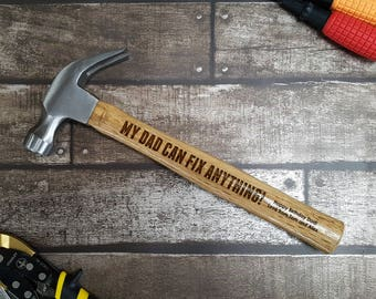 Personalised Engraved Hammer, Gifts for Men, Gifts for Father's Day, DIY, Tools   - 00031