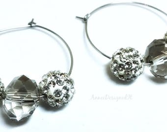 Pave Crystal Earrings