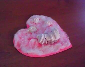 Pink door plaque, baby in the clouds