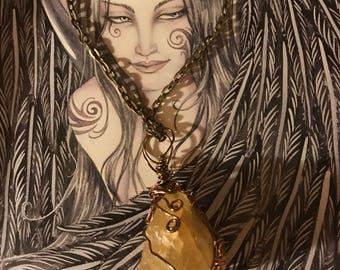 Honey Calcite Necklace
