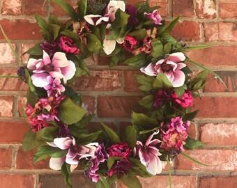 Spring Wreath, Magnolia Wreath, Summer Wreath