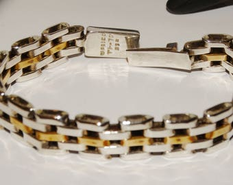 Sterling Silver Stamped Made In mexico Bracelet.