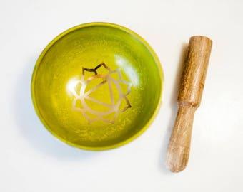 Tibetan Singing Bowl/ Chakra Singing Bowl/ Solar Plexus Singing Bowl/ Crystal Singing Bowl