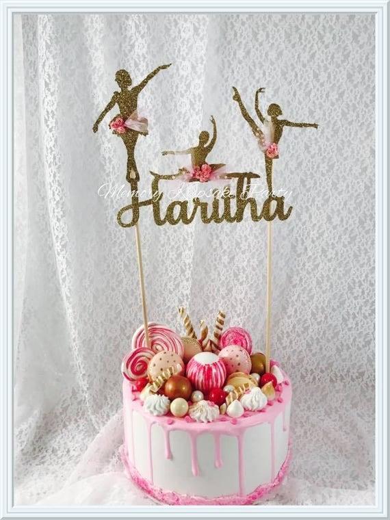 Ballerina cake topper ballet cake topper dancer cake for Ballerina birthday decoration ideas