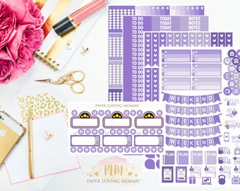 April Monthly Kit Stickers | Planner Stickers | Planner Stickers designed for use with the Erin Condren Life Planner