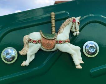 Vintage Carousel Horse Refrigerator Magnet